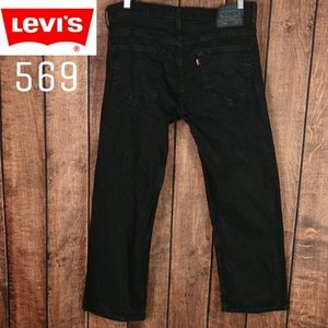 34Wx28L New Condition Black Levi's 569 stretch